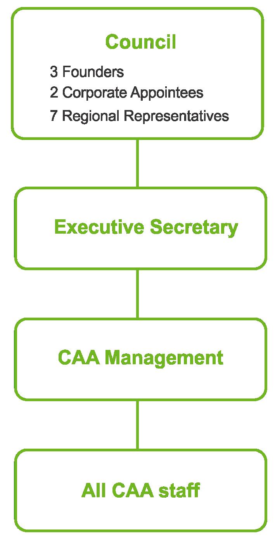 CAA organisational structure